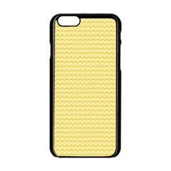 Pattern Yellow Heart Heart Pattern Apple iPhone 6/6S Black Enamel Case