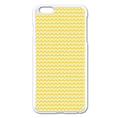 Pattern Yellow Heart Heart Pattern Apple iPhone 6 Plus/6S Plus Enamel White Case