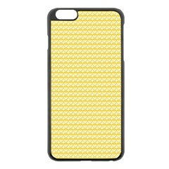 Pattern Yellow Heart Heart Pattern Apple iPhone 6 Plus/6S Plus Black Enamel Case