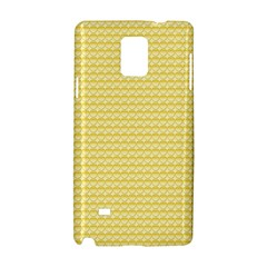 Pattern Yellow Heart Heart Pattern Samsung Galaxy Note 4 Hardshell Case