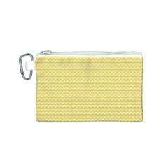 Pattern Yellow Heart Heart Pattern Canvas Cosmetic Bag (s) by Nexatart