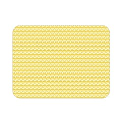 Pattern Yellow Heart Heart Pattern Double Sided Flano Blanket (Mini)