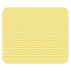 Pattern Yellow Heart Heart Pattern Double Sided Flano Blanket (Small)
