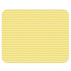 Pattern Yellow Heart Heart Pattern Double Sided Flano Blanket (Medium)