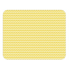 Pattern Yellow Heart Heart Pattern Double Sided Flano Blanket (Large)