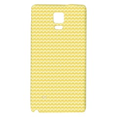 Pattern Yellow Heart Heart Pattern Galaxy Note 4 Back Case
