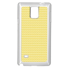 Pattern Yellow Heart Heart Pattern Samsung Galaxy Note 4 Case (White)