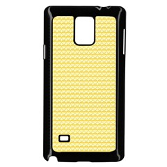 Pattern Yellow Heart Heart Pattern Samsung Galaxy Note 4 Case (Black)