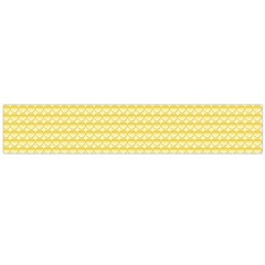 Pattern Yellow Heart Heart Pattern Flano Scarf (Large)