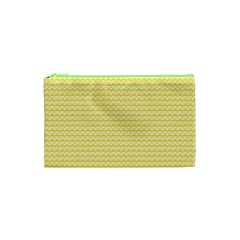 Pattern Yellow Heart Heart Pattern Cosmetic Bag (XS)