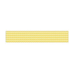 Pattern Yellow Heart Heart Pattern Flano Scarf (Mini)