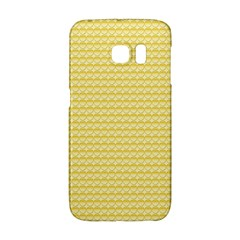 Pattern Yellow Heart Heart Pattern Galaxy S6 Edge