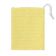Pattern Yellow Heart Heart Pattern Drawstring Pouches (Extra Large)