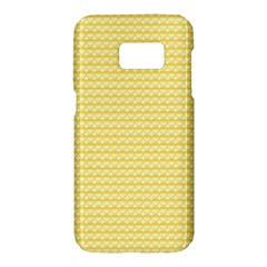 Pattern Yellow Heart Heart Pattern Samsung Galaxy S7 Hardshell Case