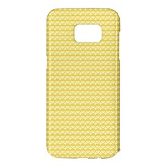 Pattern Yellow Heart Heart Pattern Samsung Galaxy S7 Edge Hardshell Case