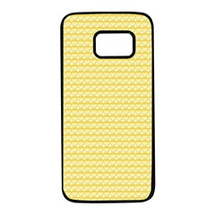 Pattern Yellow Heart Heart Pattern Samsung Galaxy S7 Black Seamless Case