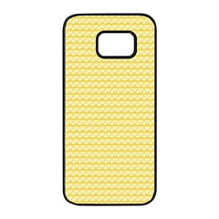 Pattern Yellow Heart Heart Pattern Samsung Galaxy S7 edge Black Seamless Case