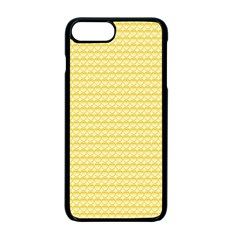 Pattern Yellow Heart Heart Pattern Apple iPhone 7 Plus Seamless Case (Black)