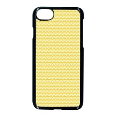 Pattern Yellow Heart Heart Pattern Apple iPhone 7 Seamless Case (Black)