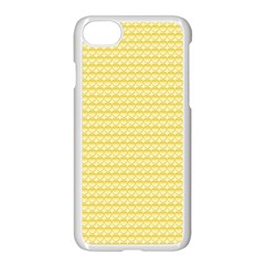 Pattern Yellow Heart Heart Pattern Apple iPhone 7 Seamless Case (White)