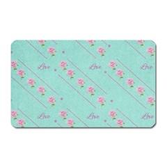 Flower Pink Love Background Texture Magnet (rectangular)