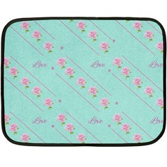 Flower Pink Love Background Texture Double Sided Fleece Blanket (mini)  by Nexatart