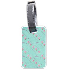 Flower Pink Love Background Texture Luggage Tags (two Sides)