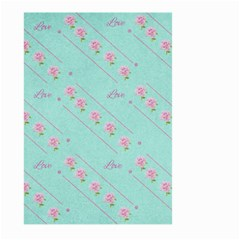 Flower Pink Love Background Texture Large Garden Flag (two Sides) by Nexatart