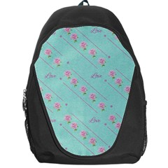 Flower Pink Love Background Texture Backpack Bag by Nexatart