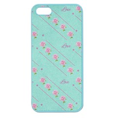 Flower Pink Love Background Texture Apple Seamless Iphone 5 Case (color)
