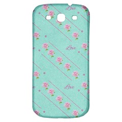 Flower Pink Love Background Texture Samsung Galaxy S3 S Iii Classic Hardshell Back Case by Nexatart