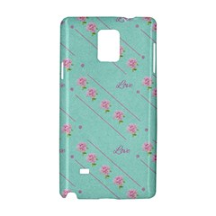 Flower Pink Love Background Texture Samsung Galaxy Note 4 Hardshell Case