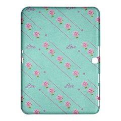 Flower Pink Love Background Texture Samsung Galaxy Tab 4 (10 1 ) Hardshell Case