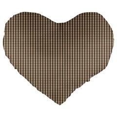 Pattern Background Stripes Karos Large 19  Premium Heart Shape Cushions