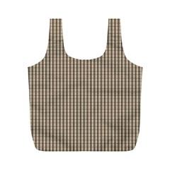 Pattern Background Stripes Karos Full Print Recycle Bags (m)