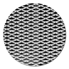 Expanded Metal Facade Background Magnet 5  (round) by Nexatart