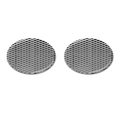 Expanded Metal Facade Background Cufflinks (oval)