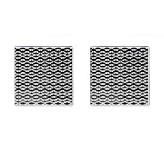 Expanded Metal Facade Background Cufflinks (square)