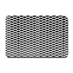 Expanded Metal Facade Background Small Doormat  by Nexatart