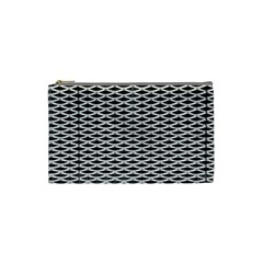 Expanded Metal Facade Background Cosmetic Bag (small)  by Nexatart