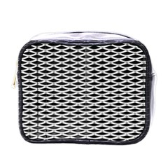Expanded Metal Facade Background Mini Toiletries Bags