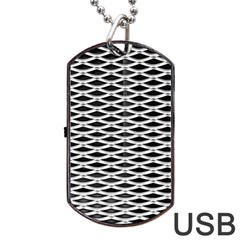 Expanded Metal Facade Background Dog Tag Usb Flash (one Side) by Nexatart