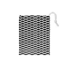 Expanded Metal Facade Background Drawstring Pouches (small)