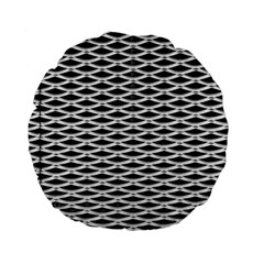 Expanded Metal Facade Background Standard 15  Premium Flano Round Cushions