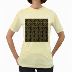 Line Geometry Pattern Geometric Women s Yellow T Shirt