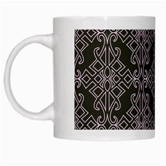 Line Geometry Pattern Geometric White Mugs by Nexatart