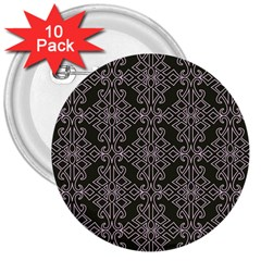 Line Geometry Pattern Geometric 3  Buttons (10 Pack)