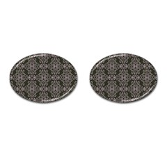 Line Geometry Pattern Geometric Cufflinks (oval)