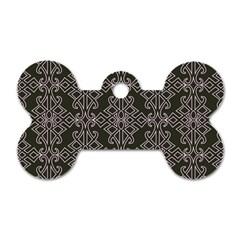 Line Geometry Pattern Geometric Dog Tag Bone (two Sides)