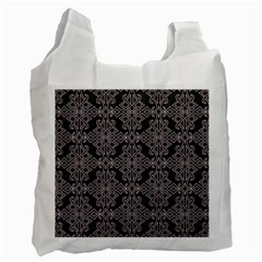 Line Geometry Pattern Geometric Recycle Bag (one Side)